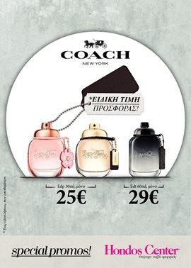 Special Offer: Coach fragrancies EDT & EDP only 25!