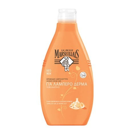 Le Petit Marseillais Shower Cream Care With Apricor Oil & White Lily